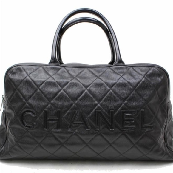 c2382c8a2e29b9 CHANEL Bags | Matelasse Black Caviar Boston Bag | Poshmark